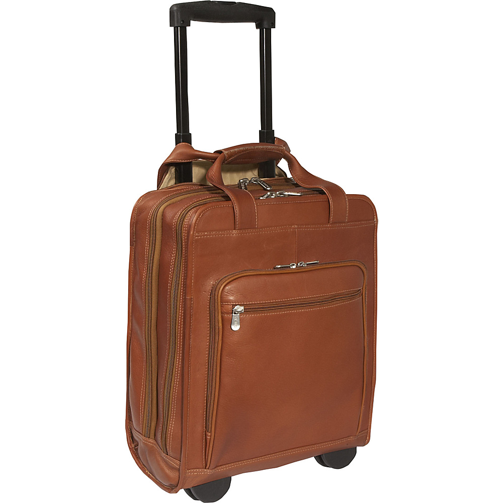Piel Vertical Office on Wheels - Saddle - Work Bags & Briefcases, Wheeled Business Cases