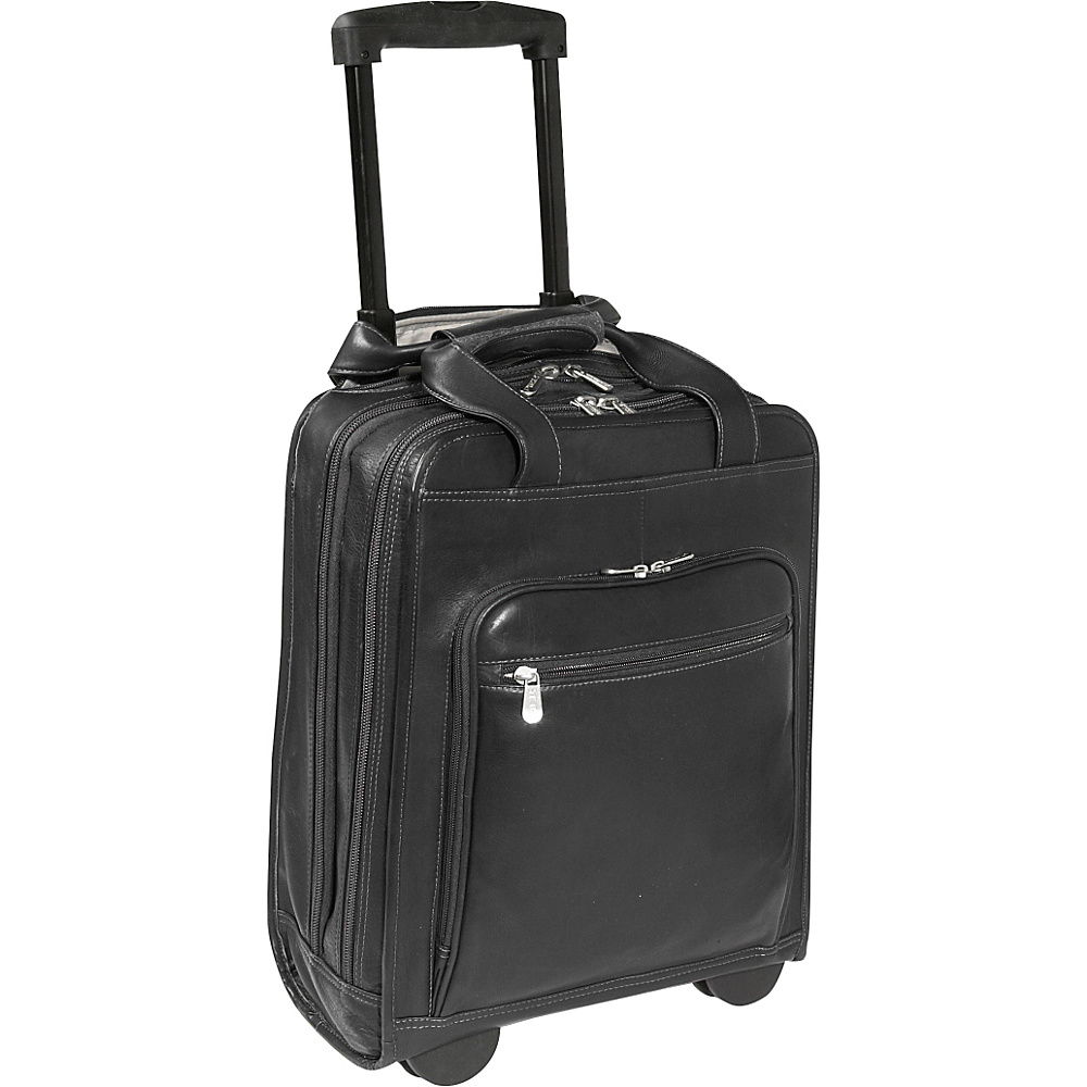 Piel Vertical Office on Wheels - Black - Work Bags & Briefcases, Wheeled Business Cases