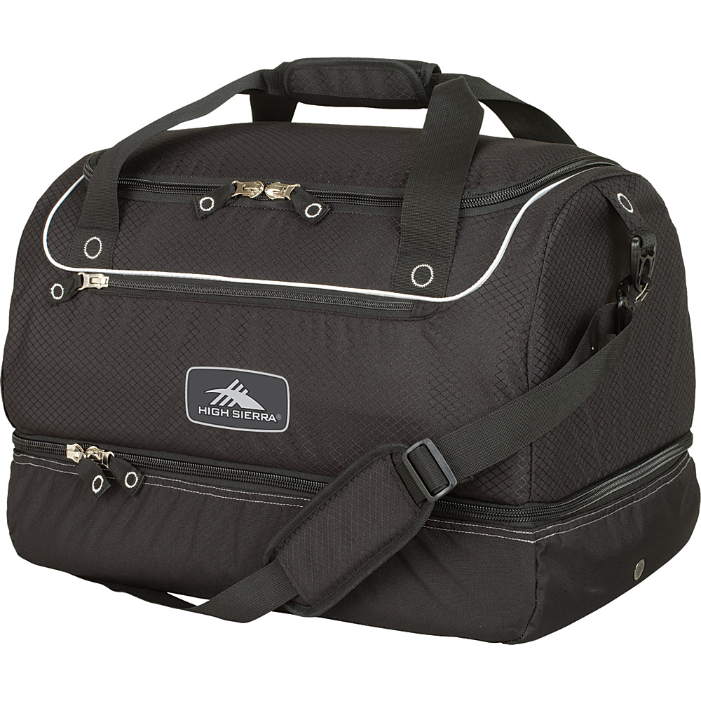 High Sierra Over-Under Cargo Duffel - Black - Sports, Ski and Snowboard Bags