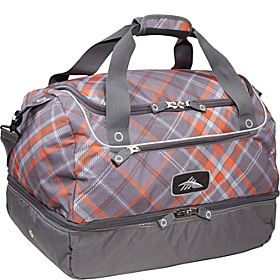 Over-Under Cargo Duffel Diamond Plaid, Charcoal