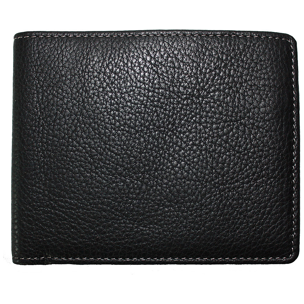 Boconi Tyler Tumbled Billfold - Black w/plaid - Work Bags & Briefcases, Men's Wallets