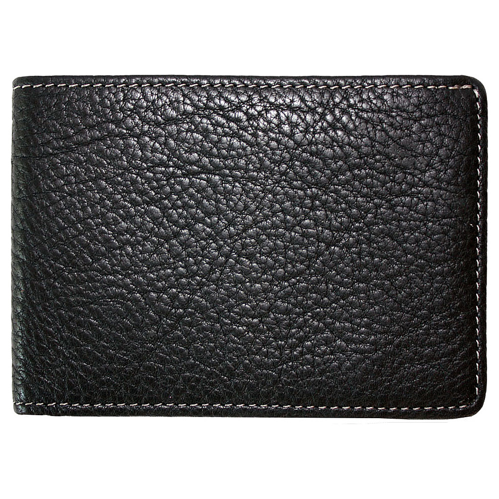 Boconi Tyler Tumbled Slimster Black w/plaid - Boconi Mens Wallets - Work Bags & Briefcases, Men's Wallets