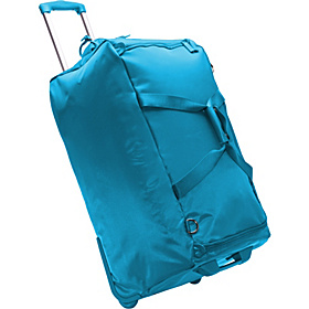 27'' Foldable 2 Wheeled Duffle Bag Aqua