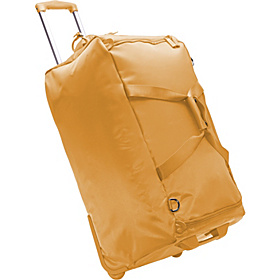 27'' Foldable 2 Wheeled Duffle Bag Mustard