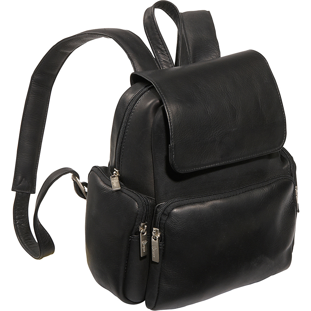 Royce Leather Vaquetta Nappa Knapsack Black