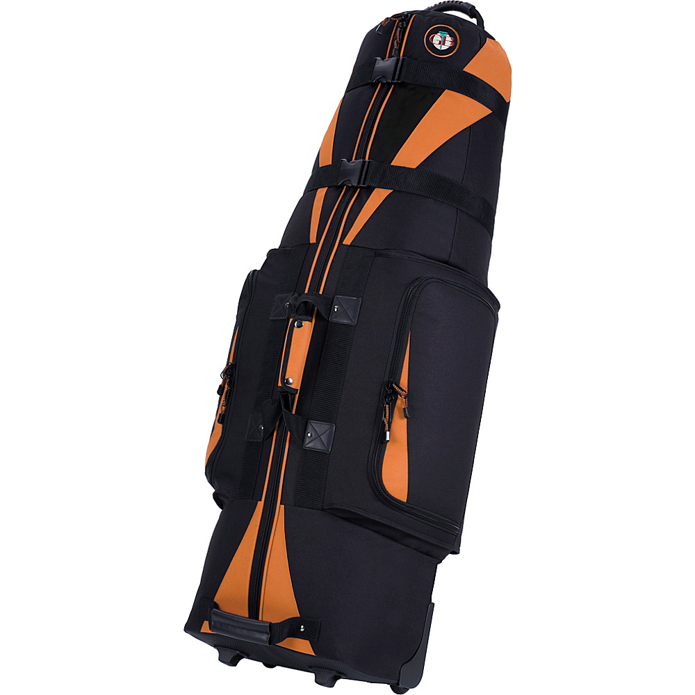 Golf Travel Bags LLC Caravan 3.0 Black Tangerine Golf Travel Bags LLC Golf Bags