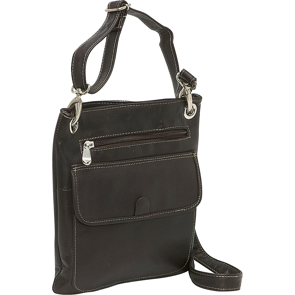 Le Donne Leather Slim Crossbody - Caf - Handbags, Leather Handbags