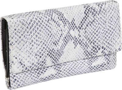 Leatherbay Italian Leather Sleek Clutch - Snake Print