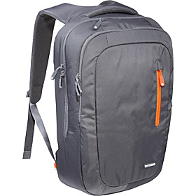 Nylon Backpack Dark Grey/Red Orange