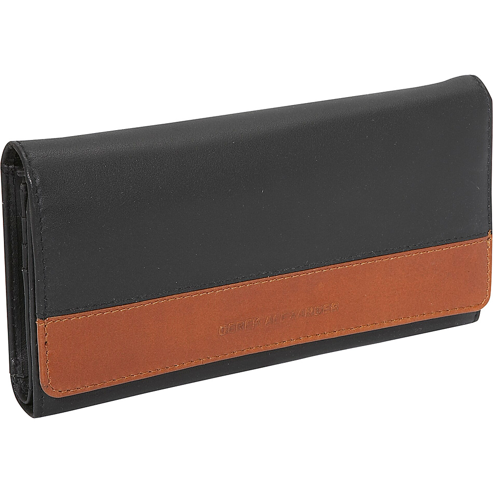 Derek Alexander Multi Clutch - Black/Tan - Women's SLG, Women's Wallets