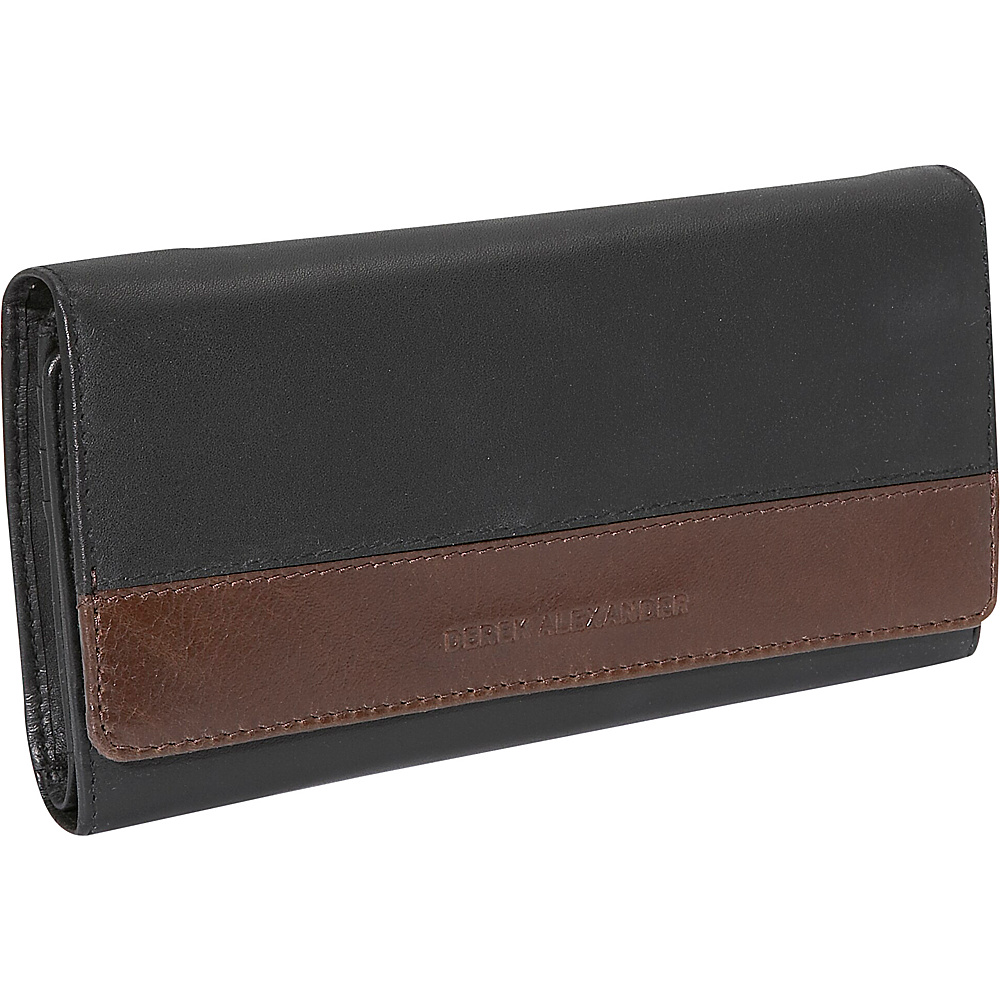 Derek Alexander Multi Clutch - Black and Brown - Women's SLG, Women's Wallets