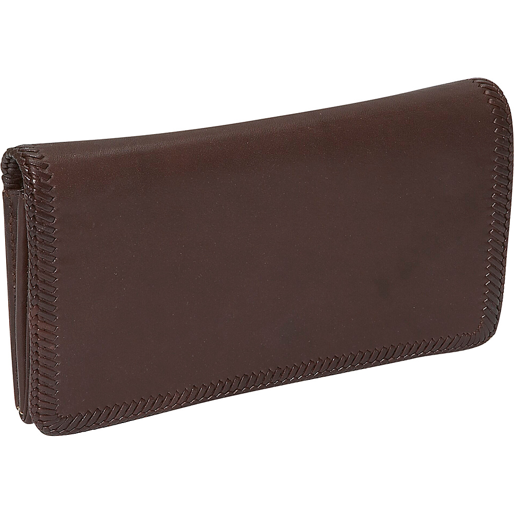 Derek Alexander Large Multi Comp Clutch - Brown - Women's SLG, Women's Wallets