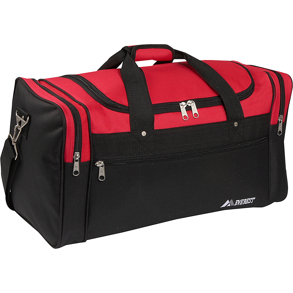 Everest 22 Sports Duffel Bag - Red/Black - Duffels, Travel Duffels