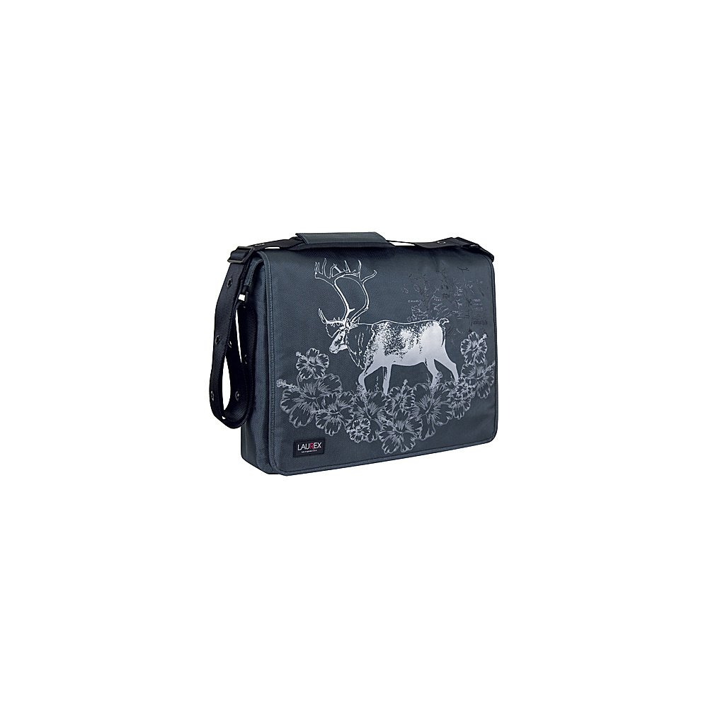 Laurex 17 Laptop Messenger Bag Gray Elk