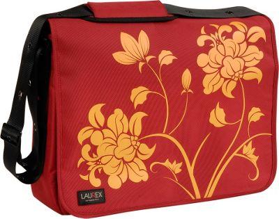 """Laurex 17"""" Laptop Messenger Bag - Red Blossom"""