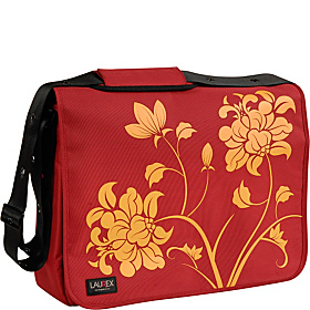 17'' Laptop Messenger Bag Red Blossom