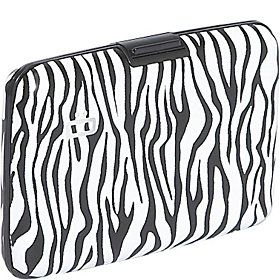 RFID Aluminum Small Smooth Wallet Zebra