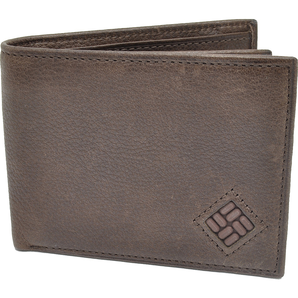 Columbia Extra Capacity Slimfold Wallet Brown