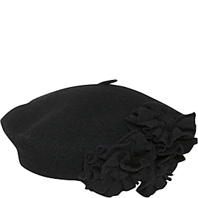 Beret With Flowers Black