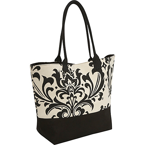 Earth Axxessories Damask Canvas Tote