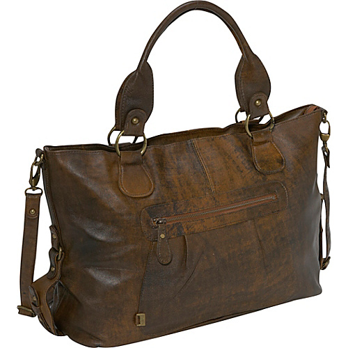OiOi Jungle Leather Tote - Brown