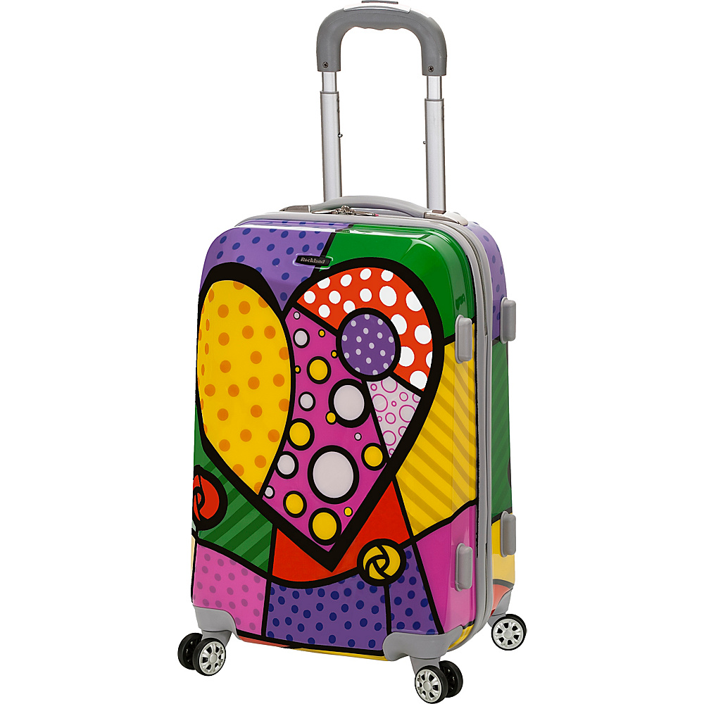 Rockland Luggage 20 Vision Polycarbonate Carry On HEART Rockland Luggage Hardside Carry On