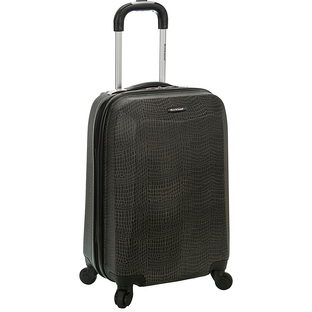 Rockland Luggage 20 Vision Polycarbonate Carry On CROCODILE Rockland Luggage Hardside Carry On