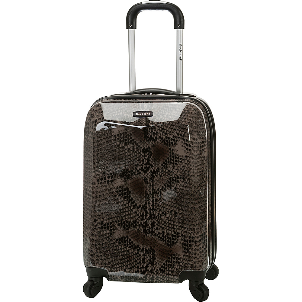 Rockland Luggage 20 Vision Polycarbonate Carry On SNAKE Rockland Luggage Hardside Carry On