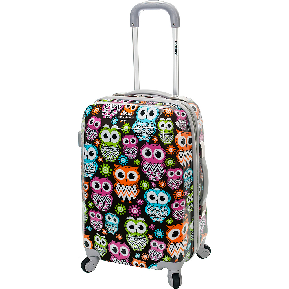 Rockland Luggage 20 Vision Polycarbonate Carry On OWL Rockland Luggage Hardside Carry On
