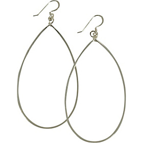 3'' Tear Drop Earrings Sterling Silver