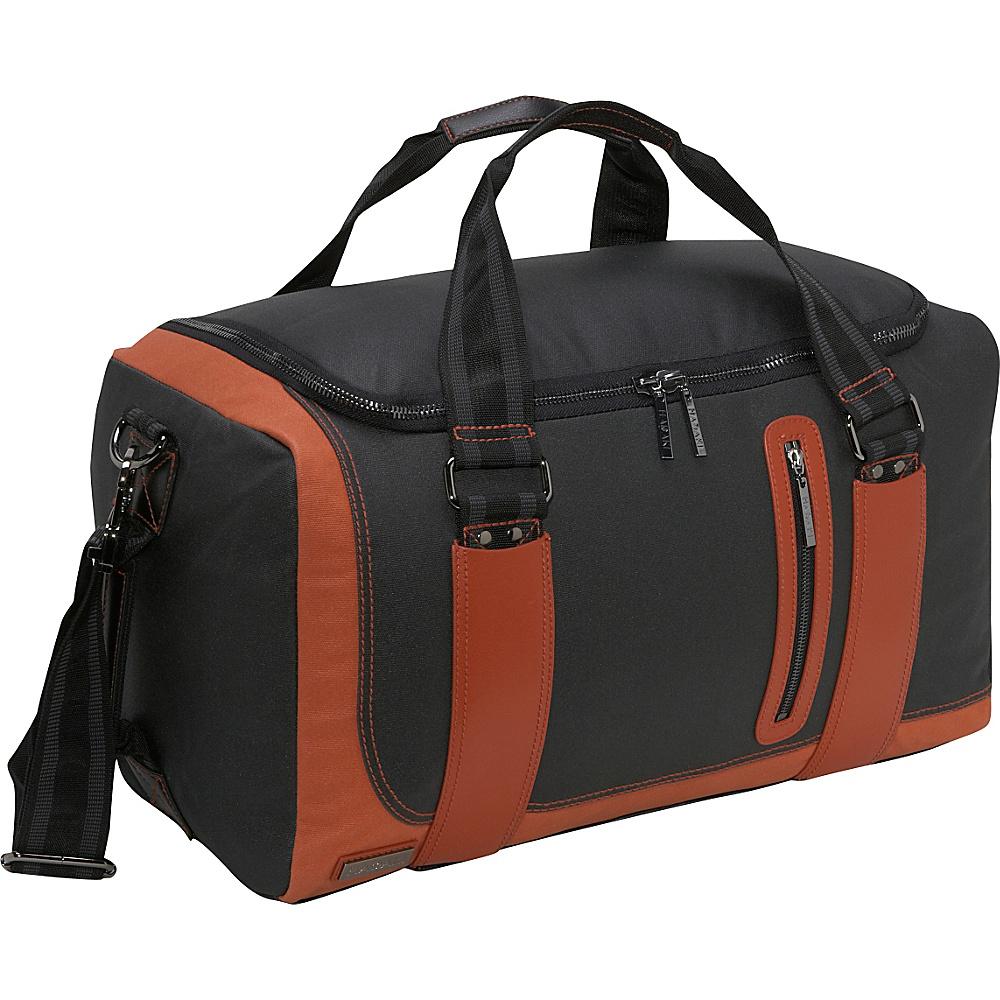 Hadaki Jet Setter Duffel Bag - Black/Rust - Duffels, Travel Duffels