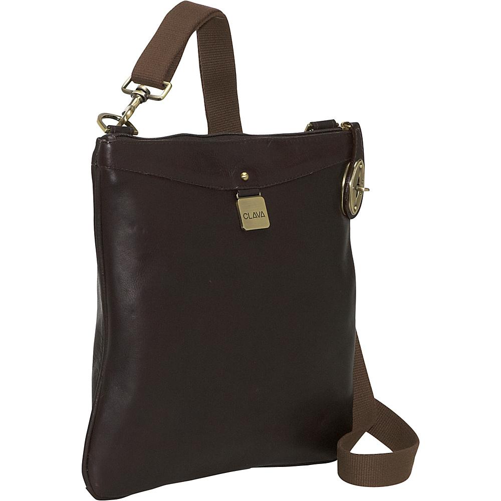 Clava Leather Turnlock Messenger - Vachetta Cafe - Handbags, Leather Handbags