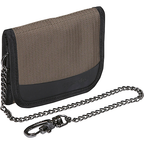 Pacsafe Walletsafe 100 Tri-Fold Travel Wallet - Mocha