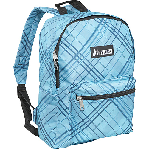 [Image: Everest Basic Pattern Backpack Blue Plaid - Everest School & Day Hiking Backpacks]