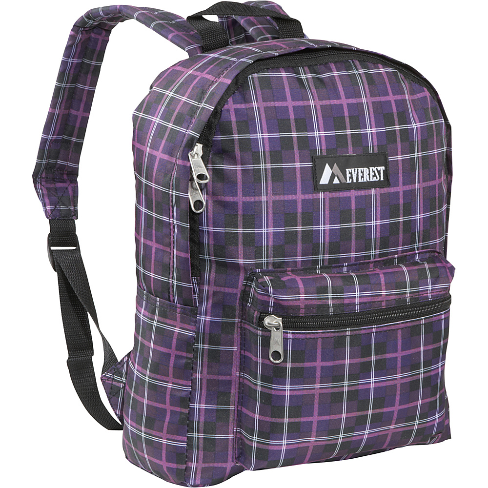 Everest Basic Pattern Backpack Purple Black Plaid - Everest Everyday Backpacks