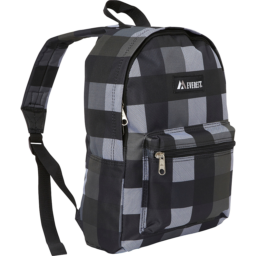 Everest Basic Pattern Backpack Charcoal Gray Plaid - Everest Everyday Backpacks - Backpacks, Everyday Backpacks