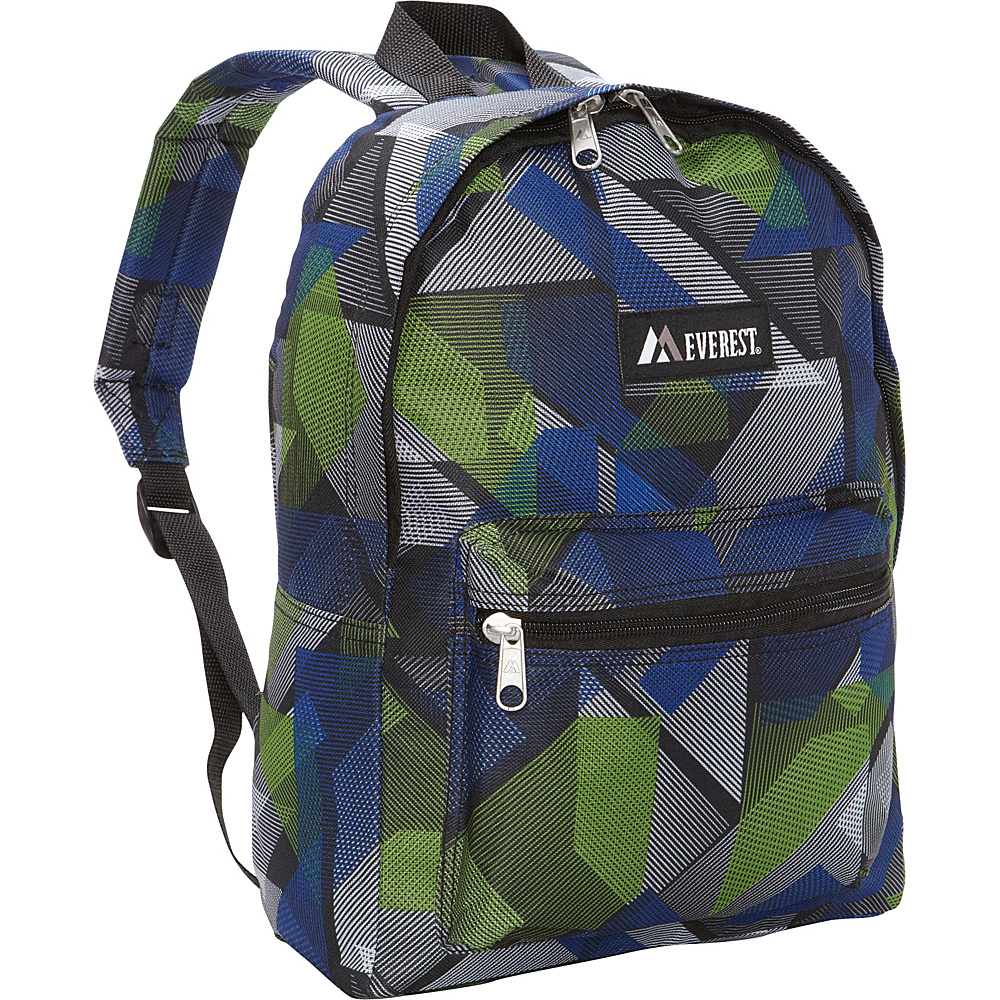 Everest Basic Pattern Backpack Blue Green Geometric Everest Everyday Backpacks