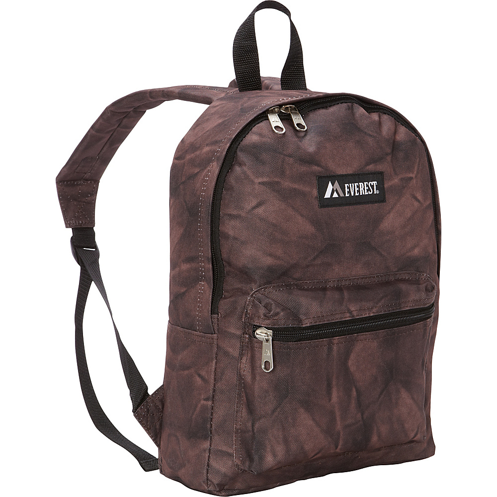 Everest Basic Pattern Backpack Brown Rock Everest Everyday Backpacks