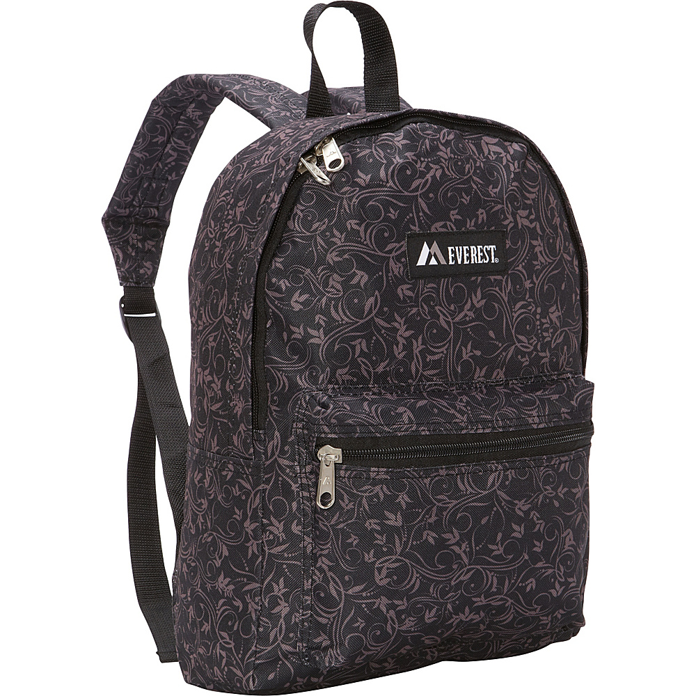Everest Basic Pattern Backpack Brown Vines Everest Everyday Backpacks