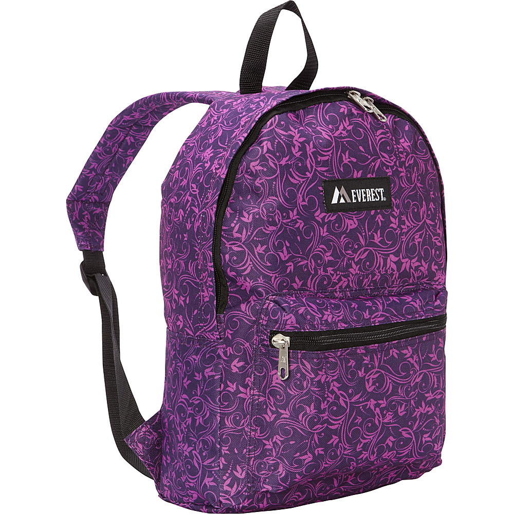 Everest Basic Pattern Backpack Purple Vines Everest Everyday Backpacks