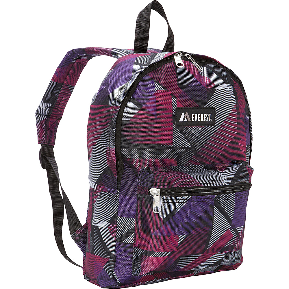 Everest Basic Pattern Backpack Purple Pink Geometric Everest Everyday Backpacks