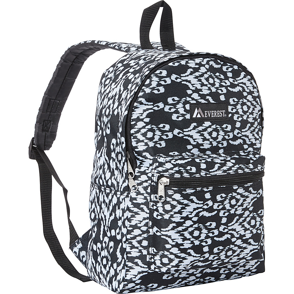 Everest Basic Pattern Backpack Black/White Ikat - Everest Everyday Backpacks - Backpacks, Everyday Backpacks