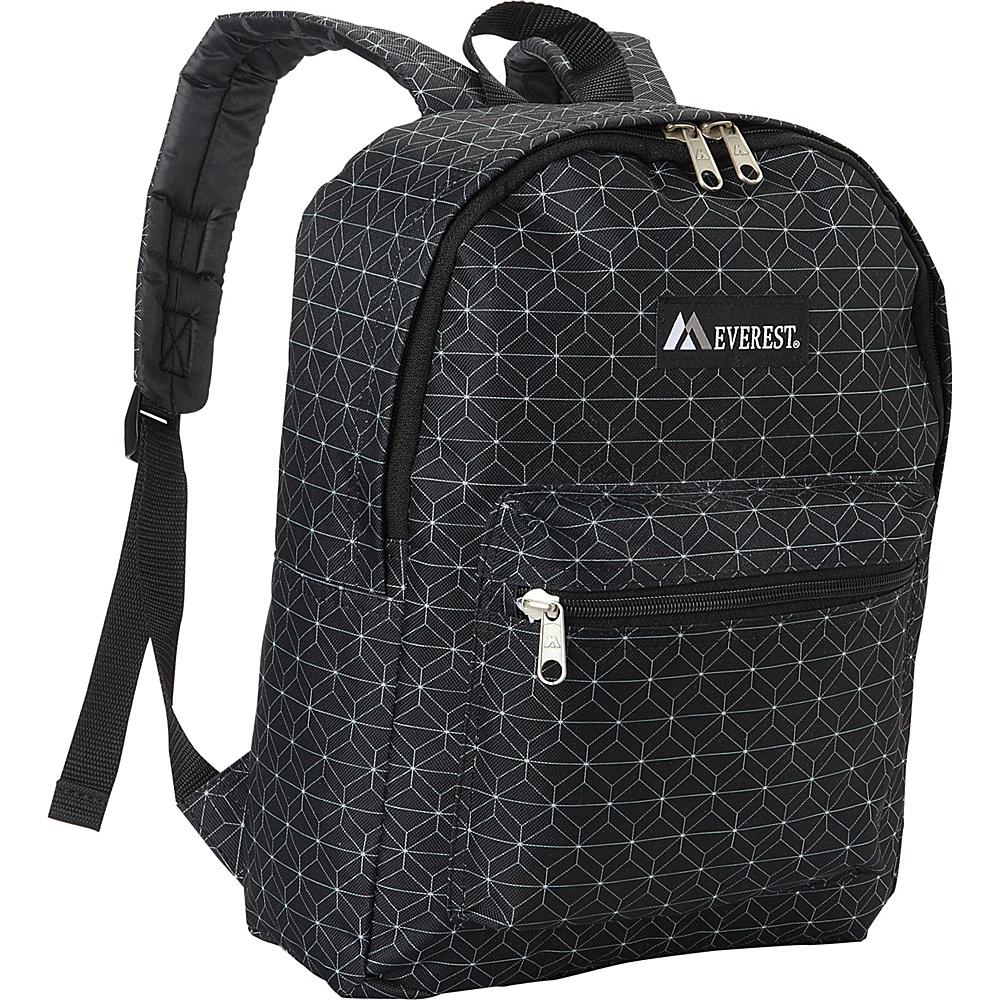 Everest Basic Pattern Backpack Black - Everest Everyday Backpacks - Backpacks, Everyday Backpacks