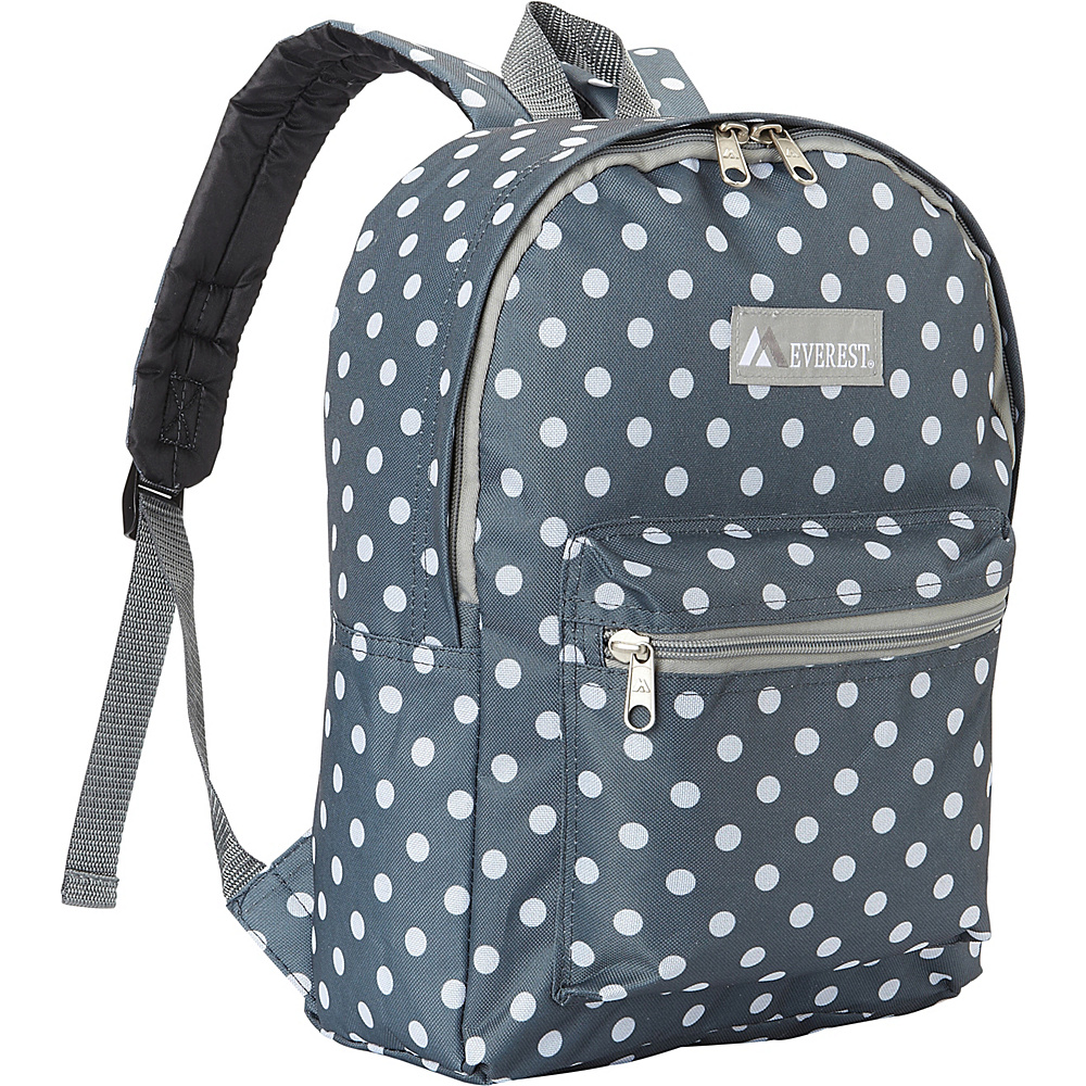 Everest Basic Pattern Backpack Gray/White Dot - Everest Everyday Backpacks - Backpacks, Everyday Backpacks