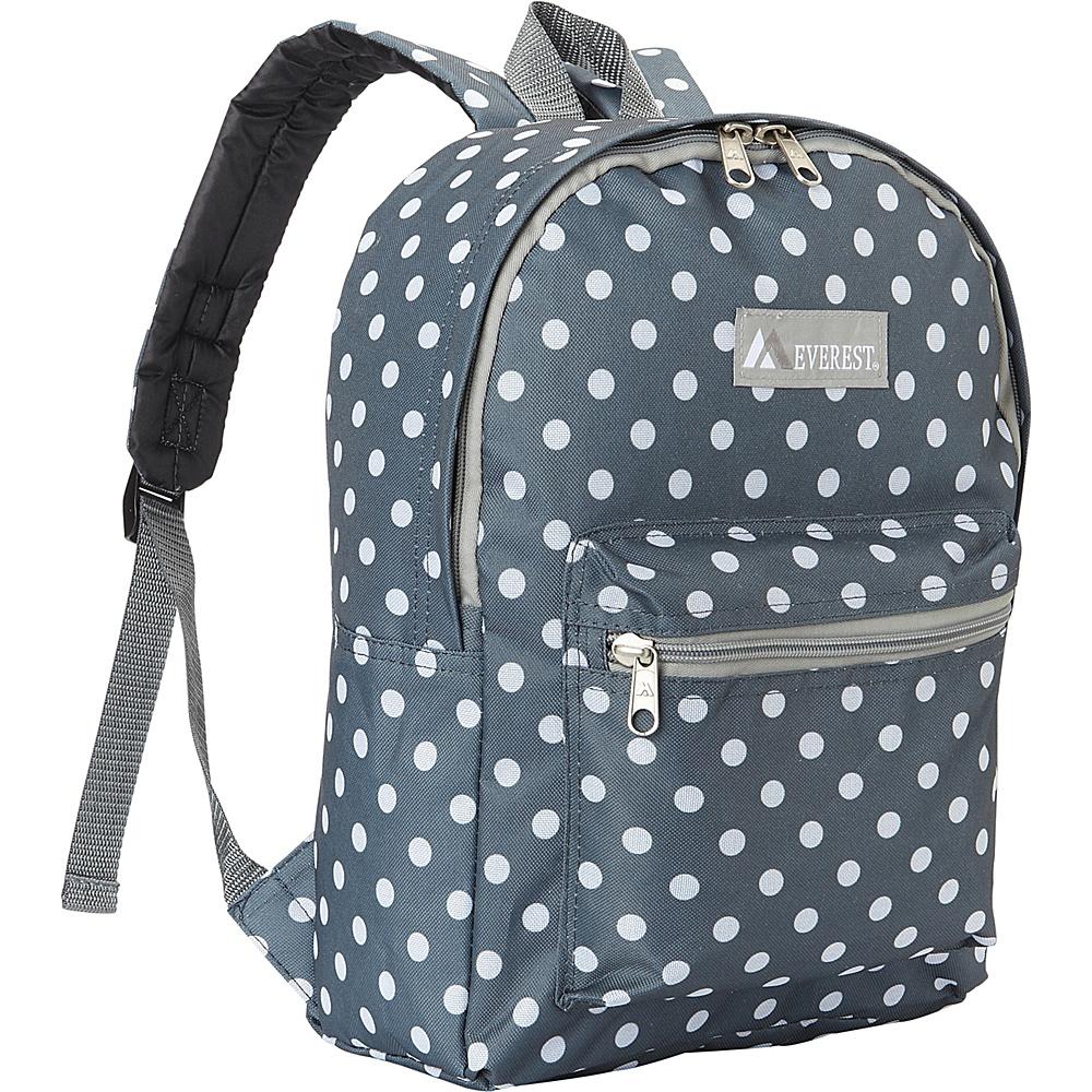 Everest Basic Pattern Backpack Gray/White Dot - Everest Everyday Backpacks - Backpacks, Everyday Backpacks