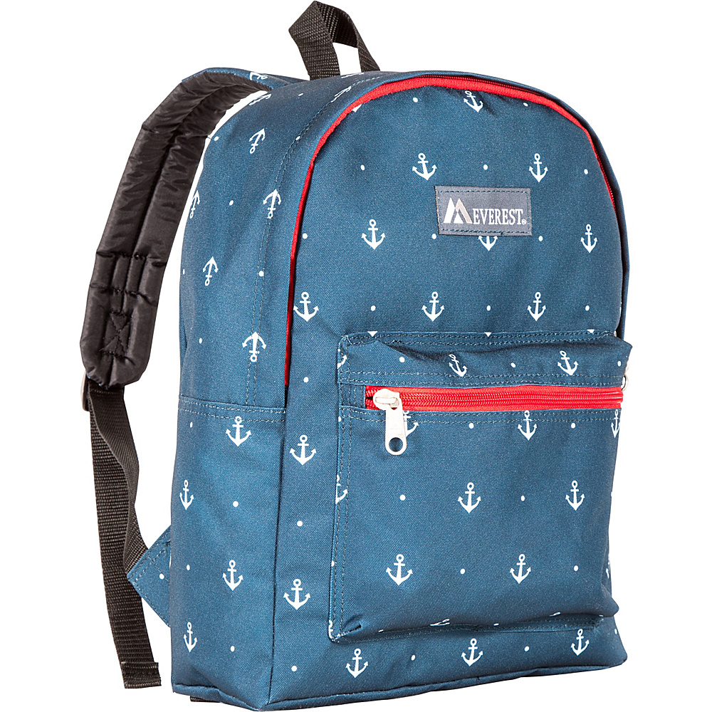 Everest Basic Pattern Backpack Navy Anchor - Everest Everyday Backpacks - Backpacks, Everyday Backpacks
