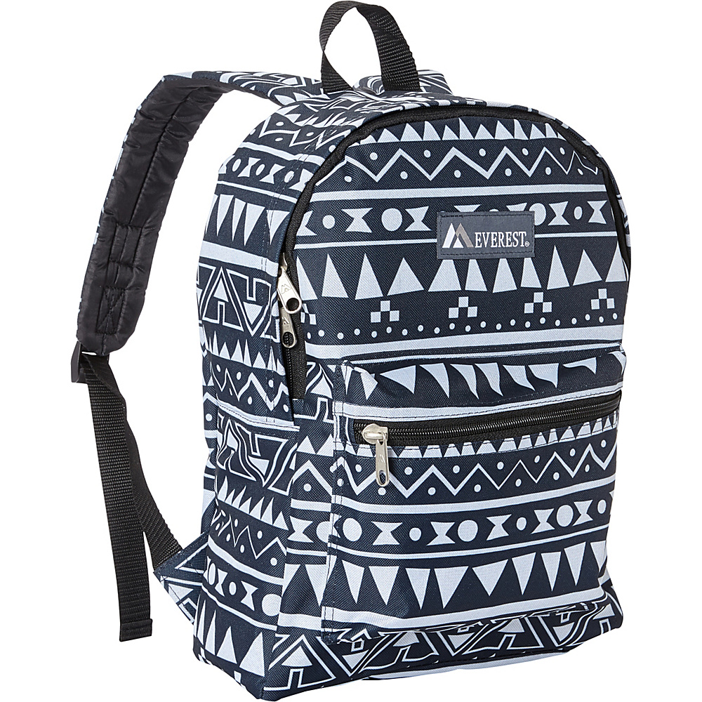 Everest Basic Pattern Backpack Navy/White Ethnic - Everest Everyday Backpacks - Backpacks, Everyday Backpacks