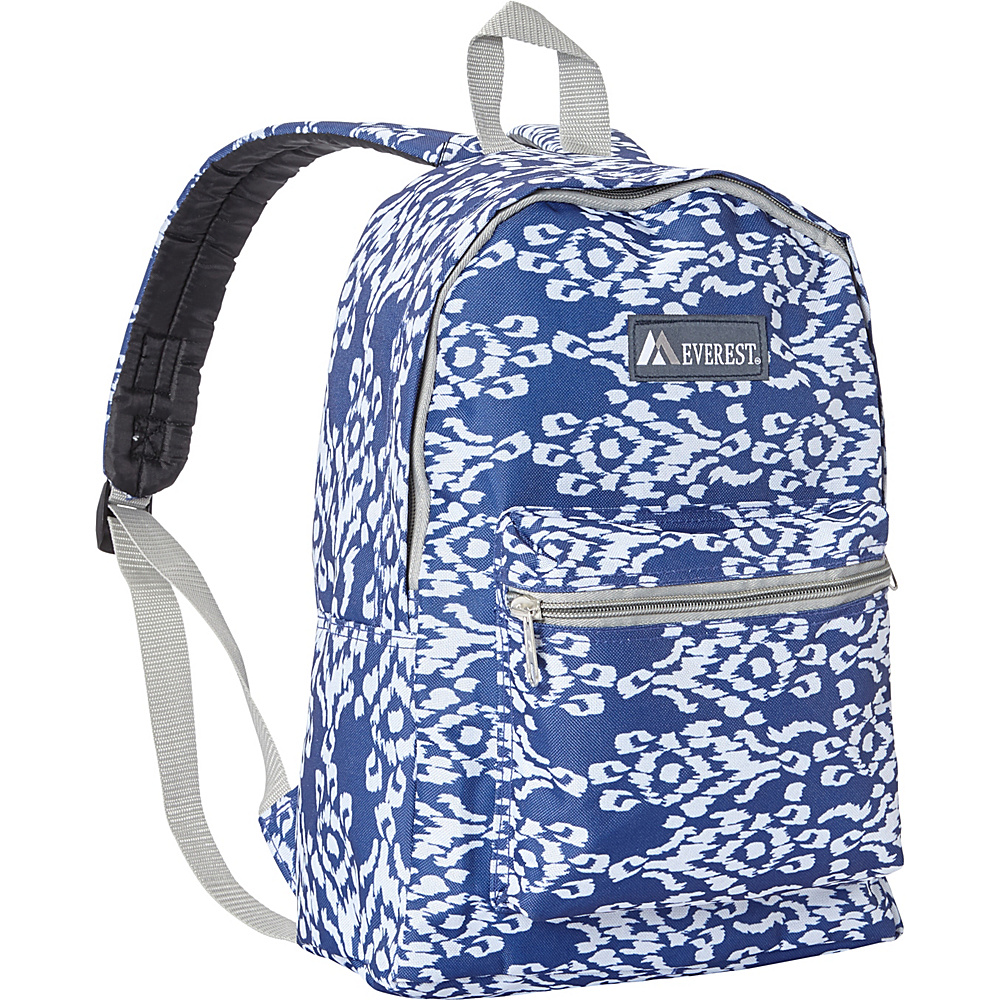 Everest Basic Pattern Backpack Navy/White Ikat - Everest Everyday Backpacks - Backpacks, Everyday Backpacks