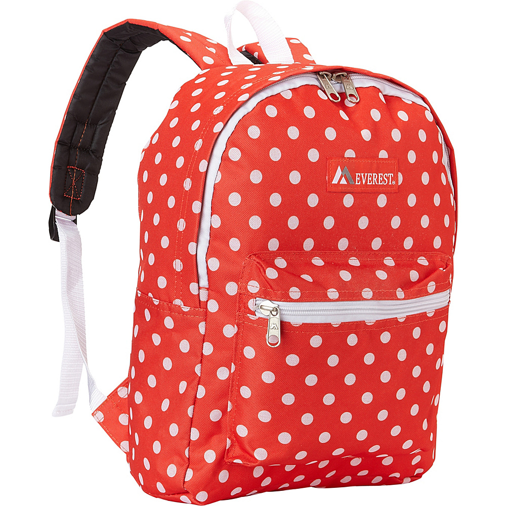 Everest Basic Pattern Backpack Tangerine/White Dot - Everest Everyday Backpacks - Backpacks, Everyday Backpacks