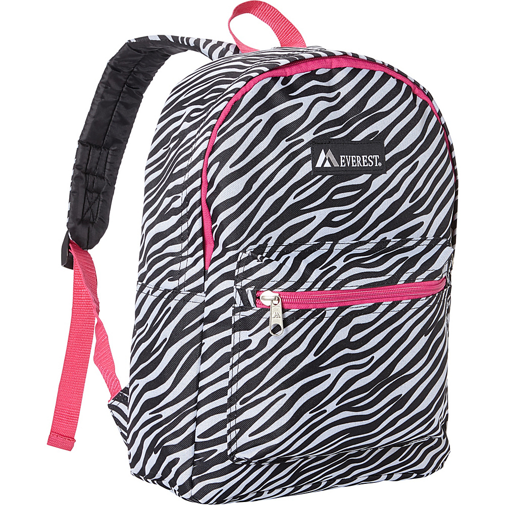 Everest Basic Pattern Backpack Zebra - Everest Everyday Backpacks - Backpacks, Everyday Backpacks